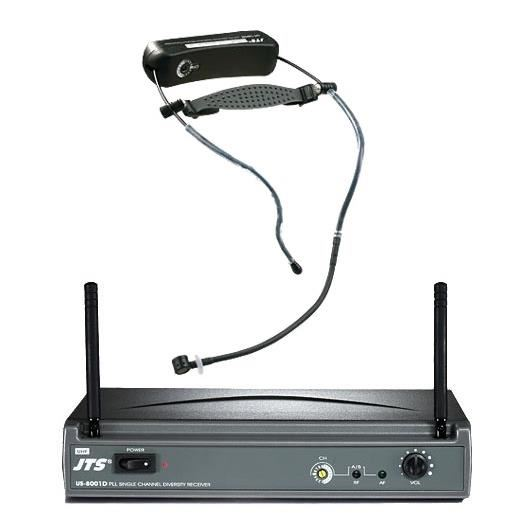 Wireless Headset Microphone JTS US-8001D / UT-16HW Gym Pack