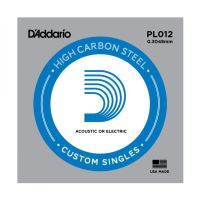 Single Plain Steel Guitar String D'Addario PL012